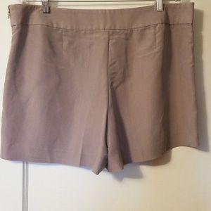 Gap dress shorts. Silky silver lavender size 14
